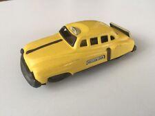 Vintage Tin Yellow Cab Taxi Friction Car - Japan