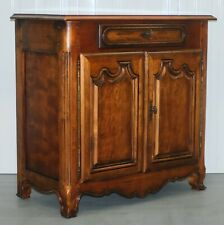 RALPH LAUREN FRENCH WALNUT COMPACT SIDEBOARD ON SLENDER FEET WITH SUBTLE DETAIL