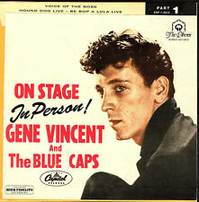 EP GENE VINCENT AND HIS BLUE CAPS  ON STAGE PARAMOUNT N.Y. 1956