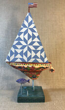 Jim Shore Shorelights Cutting Waves By Enescor Colorful Sailboat Plaster With Fa
