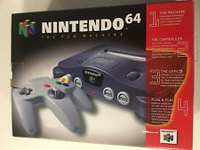 N64 Nintendo 64 System Console In Box W/ Foam + Manual Tested Working NUS-001