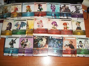 Lot de 20 cartes, trading card, Final Fantasy (français) (french)