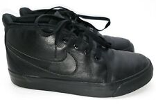 Nike Laced Slip-Ons Leather Black High Top Sneakers Trainers Shoes UK 5 A574