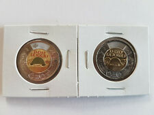 CANADA 2019 75th D-Day COLOURED + NO COLOUR UNC $2 TOONIE COINS