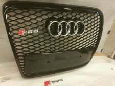 AUDI RS6 GRILL A6 TO RS6 S6 C6 SE SLINE BLACK TRIM, CHROME OR BLACK AUDI RINGS 6