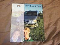 1999 Chevy Venture  Full Line Color Brochure Catalog  Prospekt