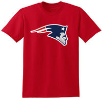 RED Tom Brady New England Patriots Logo Super Bowl T-Shirt