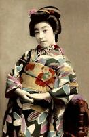 Framed Print - Vintage Traditional Japanese Geisha (Picture Asian Oriental Art)