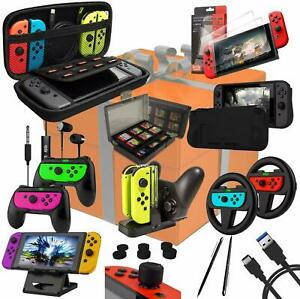 Nintendo Switch Accessories Ultimate Orzly Geek Pack Bundle Wheels, Grips, Cases