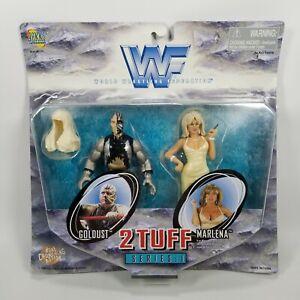 VTG WWF WWE 2 Tuff Series 1 Goldust & Marlena 1998 Jakks Pacific