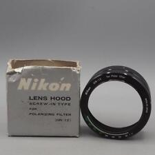 Vintage Nikon HN-12 Lens Hood Screw in Type for Polarizing Filter