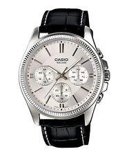 Casio MTP-1375L-7 Original Analog Leather Mens Watch Water Resistant MTP-1375L