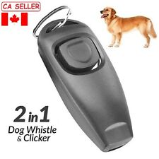 Dog Puppy Training Clicker Obedience Trainer Pet Click Whistle Agility Key Ring