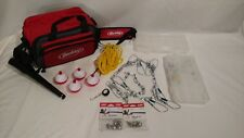 New Berkley Fishing Bag with 2 Tackle Trays, Sheath, Hooks, Etc, Lots of Extras