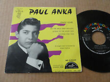 "DISQUE 45T DE PAUL ANKA  "" CRAZY LOVE """