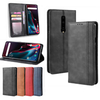 For OnePlus 7 Pro 6T 6 5T 5 Magnetic Leather Case Cover Flip Wallet  Card Holder