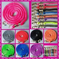 NOW IN 10 COLOURS EXTRA STRONG DELUXE LEADROPE GOLD CLIP 4 HEADCOLLARS 2 m long