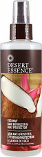 Coconut Hair Defrizzer and Heat Protector, Desert Essence, 8.5 oz