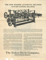 VINTAGE 1934 MAILING FOR COMMERCIAL WOODWORKING MACHINERY! PICTURES & PRICES!