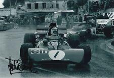 Jackie Stewart Hand Signed Elf Tyrrell 12x8 Photo Formula 1 F1.