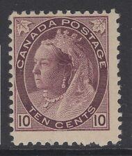CANADA SG164 1898 10c DEEP BROWNISH PURPLE MTD MINT