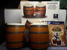 Official Nintendo GameCube Donkey Kong DK Bongos Drums Controller & game