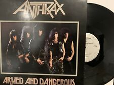 Anthrax Armed and Dangerous EP Orig. Megaforce Records MRS-05 Thrash Metal NM