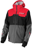 FXR Mens Charcoal Grey/Red R1 Pro Tri-Laminate Non-Insulated Snowmobile Jacket