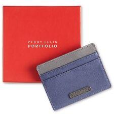 Perry Ellis Portfolio Gift Box Men's Fabric Card Case