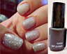 SensatioNail Nailene Gelcolor Color LED Gel Nail Polish SILVER GLITTER .125 MINI