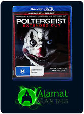 Poltergeist Extended Cut (Blu-ray) + 3D - Brand New Sealed - Fast Free Post