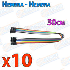 10 Cables 30cm Hembra Hembra jumper dupont 2,54 arduino protoboar cable