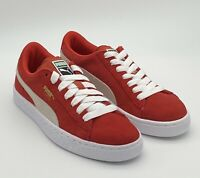 Puma Suede Jr - High Risk Red White - Big Kid's Shoes Size 6.5 - 355110-03