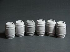 Lot of 6 Resin 28mm Wooden Casks Barrels