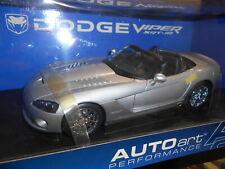 DODGE Viper SRT 10 2003 NERO 1:43 Autoart NUOVO OVP 51702