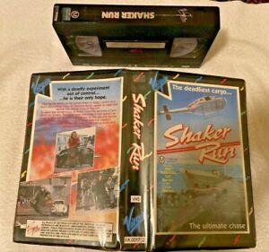 Shaker Run Leif Garrett Ex-rental VHS video tape - chase movie Virgin clam
