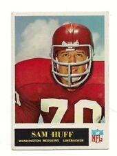 1965 SAM HUFF - NFL Washington REDSKINS - Philadelphia Football Card #187 VG-Ex