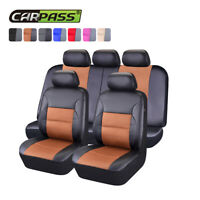Universal Car Seat Covers PU Leather Fit Honda Mazda Holden Toyota 60/40 50/50