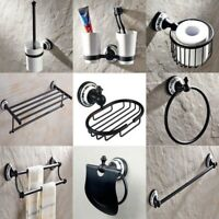 Black oil Brass Ceramic Bathroom Accessories Set Bath Hardware Towel Bar eset013