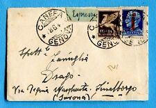 RSI - £.1,25 (495 tiratura di GENOVA) + P.AEREA c.50 ann.CANEPA (GE)   (258076)