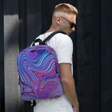 Purple and Blue Marble Pattern Backpack