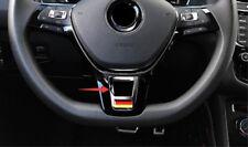 ABS Chrome Interior Steering wheel cover trim For Volkswagen VW Tiguan 2017 2018