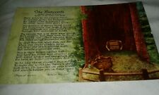 Postcard CA The Redwoods Poem By Joseph B Strauss Builder Golden gate bridge