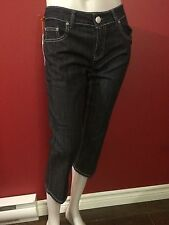 "VERTIGO Women's Classics Navy Cropped Jeans - Size 27 (28"") x 22L - NWT $160"