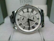 Swiss Titoni Master Series GMT Automatic Power Reserve Chronometer Mens Watch