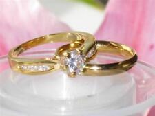 Anillos de bisutería anillo de compromiso color principal oro