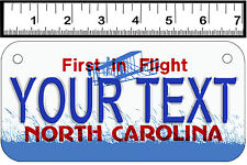 PERSONALIZED ALUMINUM MOTORCYCLE STATE LICENSE PLATE-NORTH CAROLINA