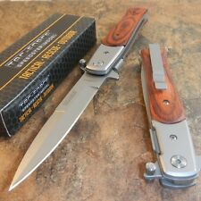 TAC-FORCE Spring Assisted Opening PAKKAWOOD Folding Pocket Knife NEW!!!