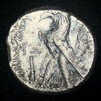 ANCIENT GREEK BIBLICAL COIN; SILVER TYRE SHEKEL 34-35 AD! YEAR 160 - JERUSALEM