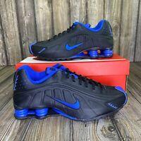 Nike Shox R4 Casual Shoes Black Game Royal Blue 104265-053 Men's Size 10
